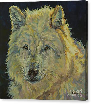 Wolf Moon Canvas Print by Patricia A Griffin