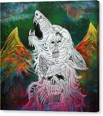 Wolf Spirit Animal Canvas Print by Laura Barbosa