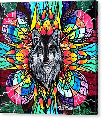 Wolf Canvas Print by Teal Eye  Print Store