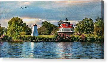Wolfe Island Lighthouse Canvas Print by Lori Deiter