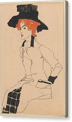 Woman Drawing Canvas Print by Celestial Images