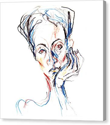 Woman Expression Canvas Print by Marian Voicu
