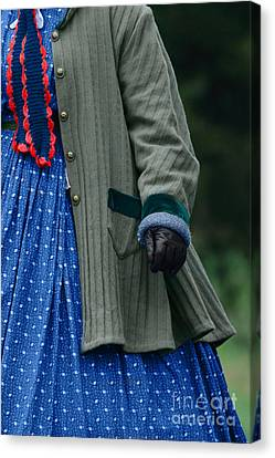 Woman In Civil War Period Clothing Canvas Print by Stephanie Frey