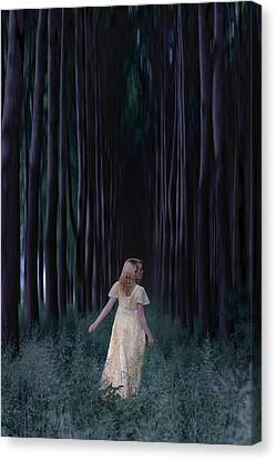 Woman In Forest Canvas Print by Joana Kruse