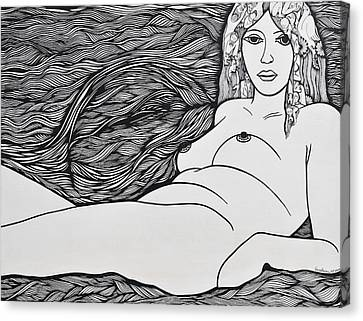 Woman Of Fifty Canvas Print by Jose Alberto Gomes Pereira