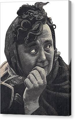 Woman Canvas Print by Tulsidas Tilwe