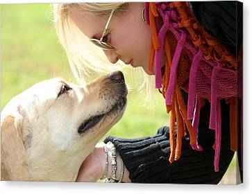 Woman's Best Friend Canvas Print by Andrew Heald