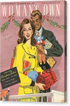 Womans Own 1940s Uk Presents Gifts Canvas Print by The Advertising Archives