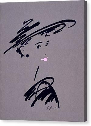 Womans Portrait Canvas Print by Giannelli
