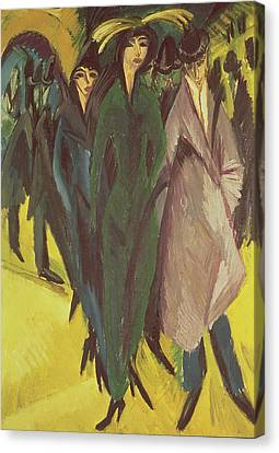 Women On The Street Canvas Print by Ernst Ludwig Kirchner