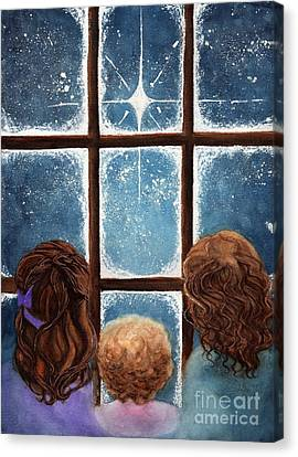 Wonder Of The Night Canvas Print by Janine Riley