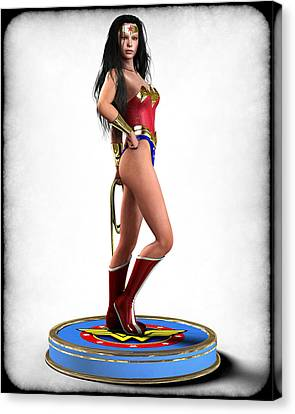 Wonder Woman V1 Canvas Print by Frederico Borges