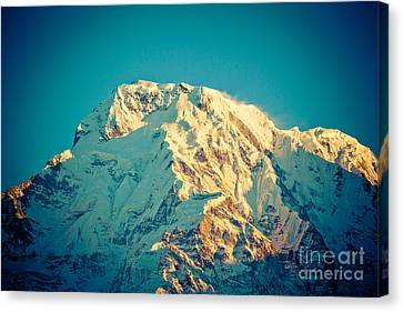 Wonderful Views Of Holy Annapurna South 7237m Canvas Print by Raimond Klavins