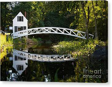 Wood Bridge Somesville Canvas Print by Jane Rix