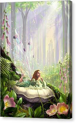 Wood Fairy Canvas Print by Garry Walton