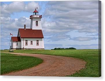 Wood Islands Lighthouse - Pei Canvas Print by Nikolyn McDonald