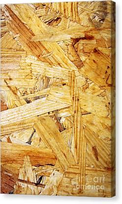Wood Splinters Background Canvas Print by Carlos Caetano