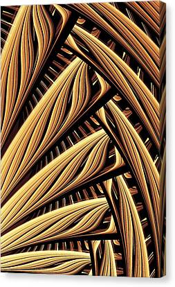 Wood Weaving Canvas Print by Anastasiya Malakhova