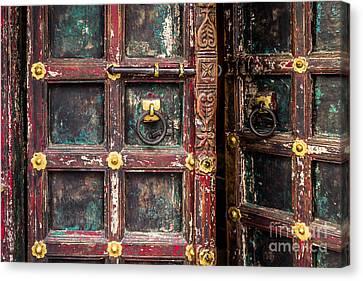 Wooden Door Canvas Print by Catherine Arnas