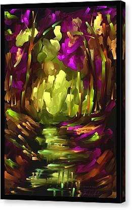 Wooden Light - Scratch Art Series - # 10 Canvas Print by Steven Lebron Langston