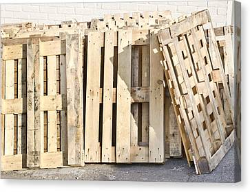 Wooden Pallets Canvas Print by Tom Gowanlock
