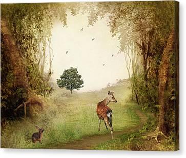 Woodland Friends Canvas Print by Sharon Lisa Clarke