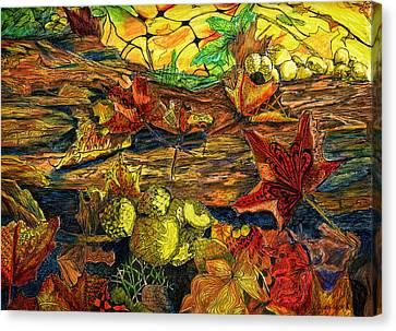 Woodland Weaving Canvas Print by Jo-Anne Gazo-McKim