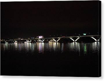 Woodrow Wilson Bridge - Washington Dc - 011344 Canvas Print by DC Photographer