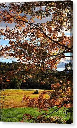 Woodstock Vermont Canvas Print by Edward Fielding