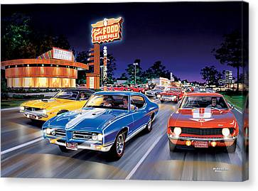 Woodward Avenue Canvas Print by Bruce Kaiser