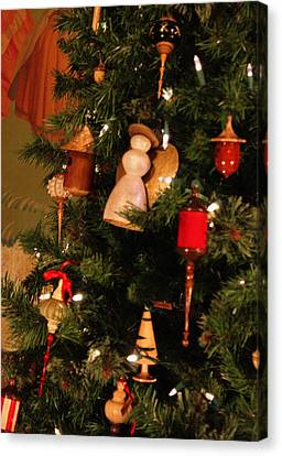 Woodworkers Of The Blue Ridge Christmas Tree Detail Canvas Print by Suzanne Gaff