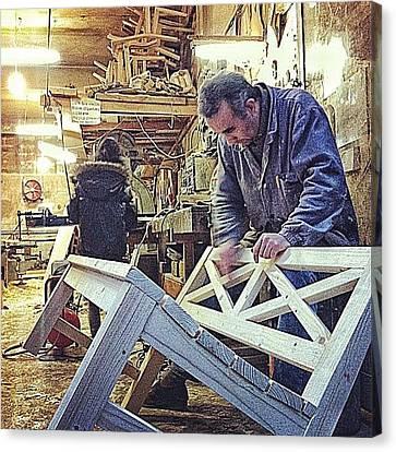 #woodworking #atelier #master #sofa Canvas Print by Ismail Velioglu
