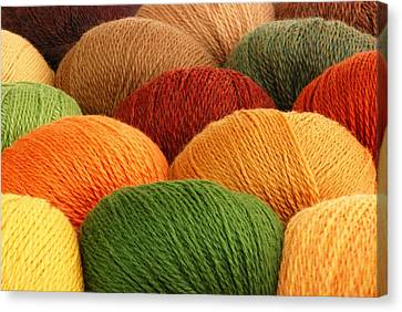 Wool Yarn Canvas Print by Jim Hughes