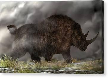 Woolly Rhinoceros Canvas Print by Daniel Eskridge