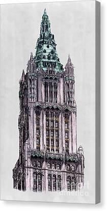 Woolworth Building New York City Canvas Print by Gerald Blaikie