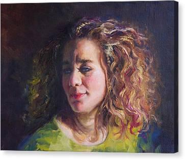 Work In Progress - Self Portrait Canvas Print by Talya Johnson