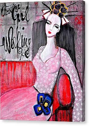 Working Girl Canvas Print by Mirko Gallery