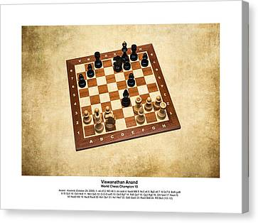 World Chess Champions - Viswanathan Anand - 1 Canvas Print by Alexander Senin