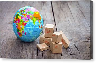 World Import And Export Canvas Print by Aged Pixel