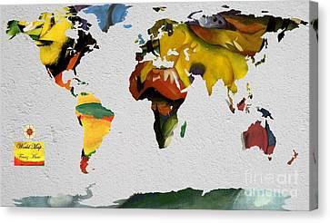 Franz Marc 4 World Map Canvas Print by John Clark