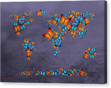 World Map  Canvas Print by Mark Ashkenazi
