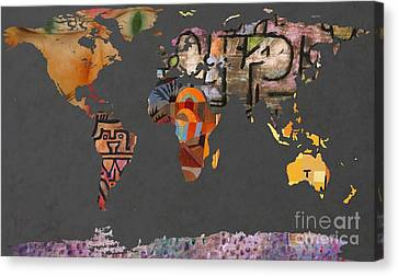 Paul Klee 1  World Map Canvas Print by John Clark