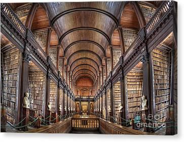 World Of Books Canvas Print by Evelina Kremsdorf