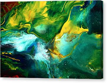 World Of Chaos Translucent Abstract Canvas Print by Serg Wiaderny