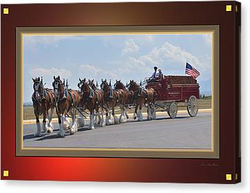 World Renown Clydesdales Canvas Print by Kae Cheatham
