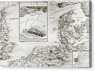 World War I Heligoland Canvas Print by Granger