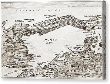 World War I North Sea Canvas Print by Granger