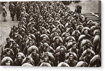 World War I Return Home Canvas Print by Granger