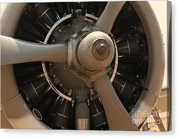 World War II Airplene Engine Canvas Print by M K  Miller
