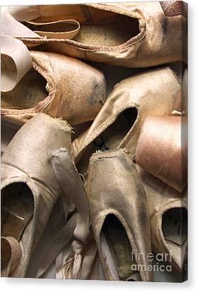 Worn Ballet Shoes Canvas Print by Diane Diederich